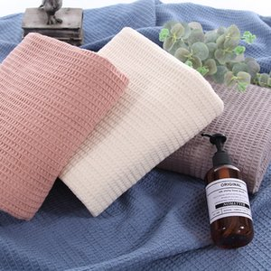 LISM Pure Color Cotton Blanket Warm Breathable Japanese Lazy Towel Blanket