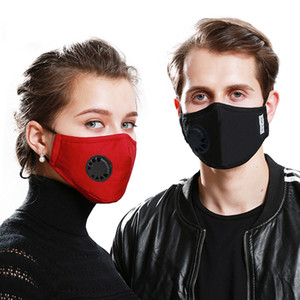 New Cotton Face mask with Breath valve 2pcs PM2.5 Filter Anti-Dust Smoke Outdoor Adjustable Reusable Protection Mouth Mask for Women Man
