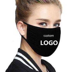Logo costume máscara DIY Padrão Cotton cara máscaras protetoras de poeira de algodão Anti cara Poeira máscara máscaras Boca lavável reutilizáveis de pano de proteção