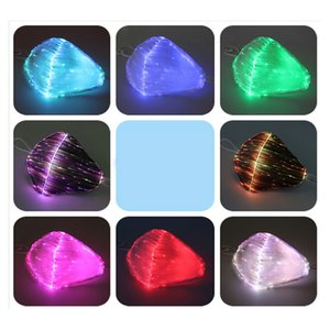 LED Anti Dust Mask 7 Color Changeable Luminous Mask With USB Charge Face Masks for Break Dance DJ Music Party Halloween Protection