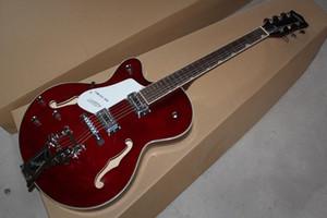 Livraison gratuite Top qualité personnalisé gauchère 6120 vin rouge guitare électrique avec Tremolo en stock