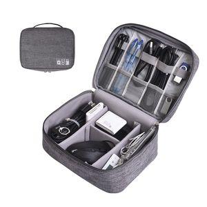 Kabel-Organizer-Tasche Digitale Aufbewahrungstaschen Hülle Reißverschlusskabel USB-Ladegerät Energienbank Fernbedienung Tasche Tragbare Box GGA2667