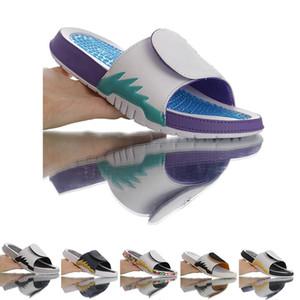 2020 Femmes Hommes nouveau style Hydro 5 V Diaporama Rouge Feu Slipper de raisin US5.5-11 Basketball Chaussons Chaussures Baskets