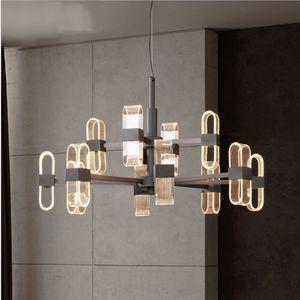 Loft Salon Yemek Odası Loft Hall YENİ Siyah Mum 110V 220V İskandinav Modern Tasarım Led Avize Işık Lambası