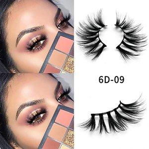 2020 new 25mm false eyelash stereo soft dense eyelash 6D imitation mink hair American hot style low price