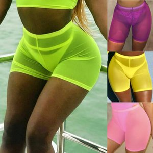 Nuevas señoras de las mujeres de algodón pantalones cortos pantalones de ciclismo SportsCropped Legging funcionamiento de la gimnasia