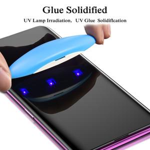 3D UV Nano Liquid Curved Tempered Glass Screen Protector for Samsung S10 S9 s8 Plus E note 9 Ultrasonic Fingerprint Protective Film