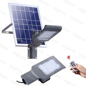 Luces de calle 20W 30W 50W 100W Potencia solar impermeable al aire libre con el control remoto para el camino del jardín Ruta de carretera DHL