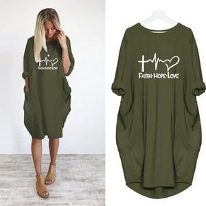 2019 neue Art und Weise shirts Mode Faith Hope Love Letters Druck Spitzen Hemden Lustige Kylie Jenner Rock-T-Shirt Frauen plus size