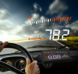 Universal Auto HUD voiture Head Up Display X3 survitesse Système d'alarme Avertissement projet de pare-brise OBD2 OBD II EOBD InterfaceFree Livraison