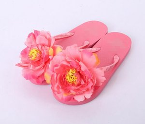 Designer-en Beach Flip Flops Flat Flowers Flip Flops Beach Slippers