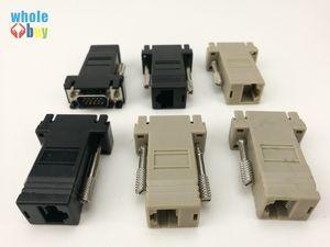Yüksek Kaliteli Ağ Kablosu Adaptörü VGA Extender Erkek LAN CAT5 CAT5e CAT6 RJ45 Femae