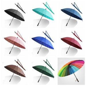 Вс дождь Прямой зонтик длинной ручкой Большой ветрозащитный меч самурая Зонтики Мода черный Мужчины Автоматическая ветрозащитный Umbrella LXL958-1