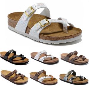 2020 Mayari progettista infradito estive degli appartamenti delle donne degli uomini delle pantofole dei sandali di sughero stampa mista Beach sandali diapositive pelliccia EUR34-46