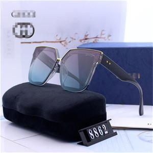 con la scatola di nuovi del progettista di marca di lusso delle donne di alta qualità degli occhiali da sole donne sole occhiali rotondi occhiali da sole Gucci de sol mujer lunetta