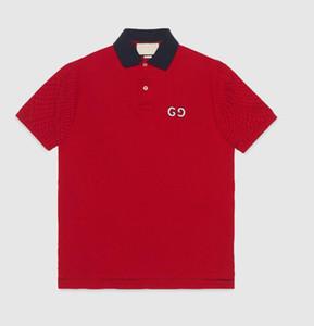 İtalya Tasarımcı Polo Gömlek Erkekler Rasgele Polo Moda Patchwork Baskı Nakış Lüks Tişörtlü High Street Erkek Sokak Giyim Polos M-3XL