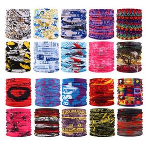 Deportes al aire libre sin fisuras de la mascarilla del bandana de múltiples funciones Headwear de la venda de la bufanda mágica Neckwarmer Bragas de cuello máscaras faciales Pesca YP527