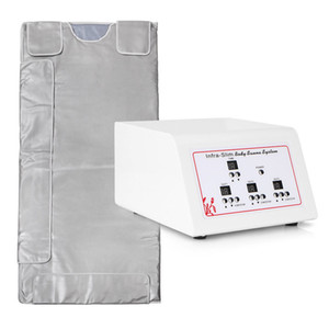 Heiße Einzelteile! 3 Zone Far Infrared Lymphdrainage Schlankheitskuren Sauna Blanket Weight Loss Detox Heizung Spa-Maschine