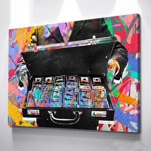 """Monopoly """"Cartella Money"""" Home Decor dipinto a mano HD Stampa Olio su tela di arte della parete della tela di canapa Pittura ufficio cultura dell'arte 200.516"""