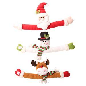 Christmas Curtain Buckle Doll Toys Small Santa Claus Elk And Snowman Curtain Buckle For Christmas Decoration Toy