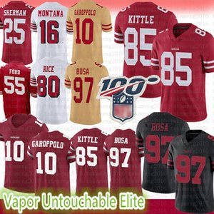 San 10 Jimmy Garoppolo jersey Francisco 85 George Kittle 97 Nick Bosa 80 Jerry Rice jeune Montana Sherman 7 Colin Kaepernick 55 hommes Ford