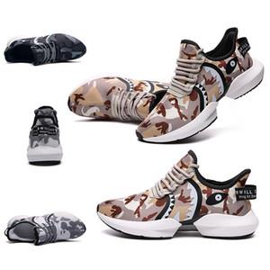 femmes de luxe hommes chaussures de course Desert Camo bleu marine entraîneurs des hommes de sport Chaussures de sport Shark marque maison Made in taille de la Chine 39-44
