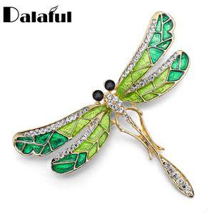 Atacado Único Dragonfly Brooch Pin esmalte de cristal Rhinestone linda jóia bonito para Mulheres presente Broches Z022