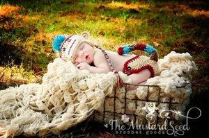 새로운 유럽과 미국의 어린이 사진 의류 신생아 스웨터 정장 짠 아기 사진 의류 원숭이
