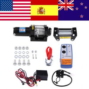 Yurtdışı Elektrik 4000lb Araç Vinç Tel Kurtarma Vinç Çekme Kablolar Kiti 12V ATV Kalıcı Manyetik Motor Fragman Truck çekin