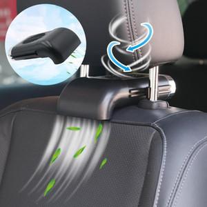Asiento de coche universal apoyo para la cabeza de tres 5V USB velocidad del ventilador con el interruptor de aire ventilador de refrigeración para camiones del asiento de coche de escape interior Acce
