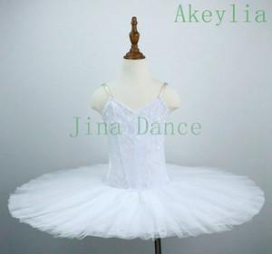 Sin Decoración adulto White Swan Ballet Tutu Disfraces Práctica de la crepe del vestido del tutú de la danza Loetards niñas dormir Dance Performance Belleza