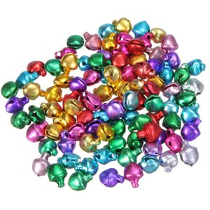 100pcs lot 6 8 12MM Mix Colors Loose Beads Small Jingle Bells Christmas Decoration Gift Wholesale Colorful DIY Crafts Handmade
