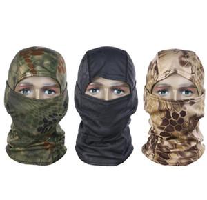 Tarnung taktische Maske Kopfbedeckungen CS Vollmasken Outdoor Sports Caps Fahrrad Radfahren Angeln Motorrad-Ski-Balaclava Chef Haube Kappen