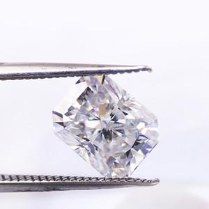 0.2CT nave libre de 10ct radiante laboratorio de corte moissanita hielo picado corte mejor grado de color D FL claridad más brillante que la piedra de diamante certificado