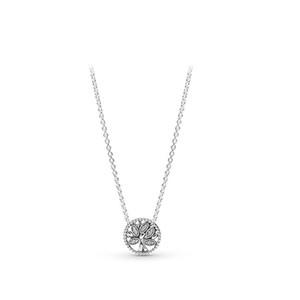 Nova árvore da vida Colar Box Original de Pandora prata esterlina 925 pingente de colares Mulheres presente Jóias