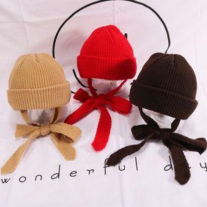 Şapka Sonbahar Ve Kış Düz Renk Vahşi çocuk örme Yün Şapka Bebek Sıcak Kapşonlu Soğuk Kap Erkekler Ve Kadınlar Earmuffs EEA216