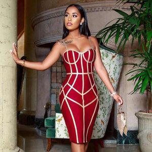 Adyce 2019 Nouveau été Robe moulante Bandage femmes Robe sexy Spaghetti Strap manches Celebrity Hot Club Party robe de soirée