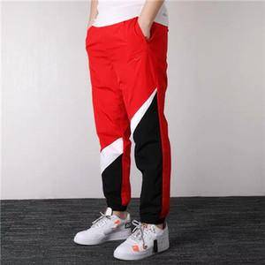 Марка Мужские спортивные брюки дизайнерские Jogger Тренировочные штаны Jogger Одежда Лоскутная кулиской Марка Спорт трениках Желтый Белый Красный B101029L