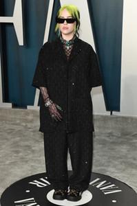 Billie Eilish 2PCS Set Robes de bal Robes de soirée Oscars Noir Taille Plus Occasion spéciale Fête de fiesta Robe rouge Robe Tapis