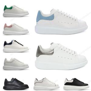 Alexander McQueen nuovo progettista della piattaforma delle donne degli uomini scarpe casual in pelle scamosciata bianca modo nero bianco Mens des chaussures zapato eur 36-44