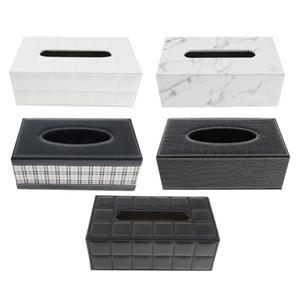 PU tecido de couro caixa de papel Início Car Phone Holder Dispenser Organizador para Home Living Room R = Tabletop Decor Car Escritórios Uso