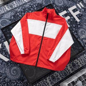 Top LOGO Stickerei Druck Jacken Stitching lose Windjacke Art und Weise lange Slevees Oberbekleidung Männer Frauen Paar Designer-Jacke HFXHJK088