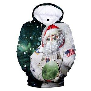 Natale 3D stampato hoodies casuali Mens allentato Maglioni Felpe Designer Plus Size Mens Tops