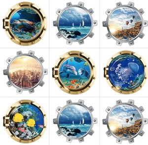 New 3D Window Effect Decorative Painting Submarine Series 7 Wall Stickers Home Decorative Stickers for Children's Room