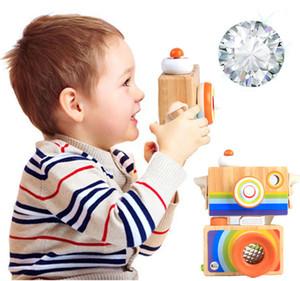 كاميرا خشبية مصغرة مشكال الاطفال لعب الأطفال أطفال غرفة شنقا الديكور لعبة للبنين بنات هدايا عيد
