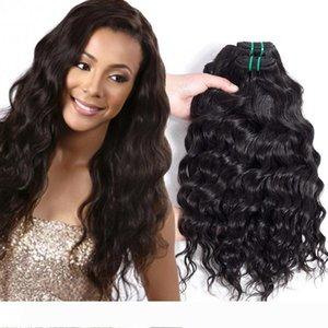 Populaire Coiffure brésilienne Vague cheveux Weave Bundles de Double Trame naturel non transformé Big wave Curly Hair Extensions Vierge humaine