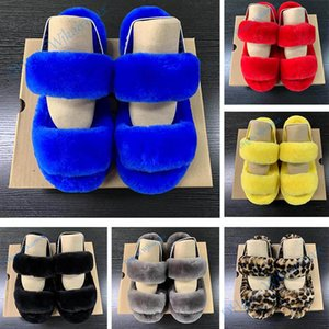 Women Furry Slipper Fluff Slides Fur House Slippers Hausschuhe Luxury Designer Platform Wedges Heels Sandals Pantoufle Flip Flops Sandale B