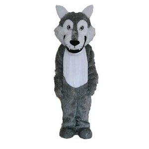 Grey wolf Mascot cartoon, factory physical photos, quality guaranteed, welcome buyers to the evaluation and cargo photos
