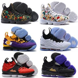 Cenizas barato Santo lebron 15 zapatos de baloncesto LeBrons las zapatillas de deporte para hombre 15s James deportivos zapatos nuevos