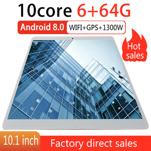 2020 neuer Tablet PC 10,1 Zoll Android 9.0 Tablets 6GB + 64GB zehn Kern 3g 4g LTE Telefon-Anruf-IPS-PC Tablet WiFi GPS 10-Zoll-Tablets